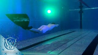 Testing a new monofin in a new pool - 75 meters underwater on one breath