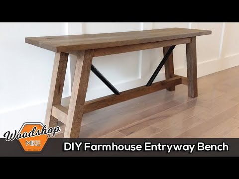 How To Build This Diy Entryway Bench Free Plans Youtube