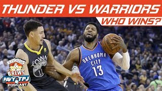 Who Wins, OKC Thunder vs Golden State Warriors (Ring Night) | Hoops N Brews