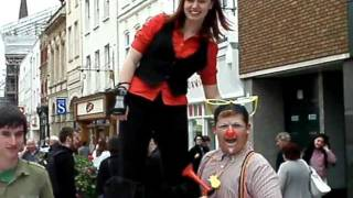 Girl spotted on stilts in Hereford 28th May 2011