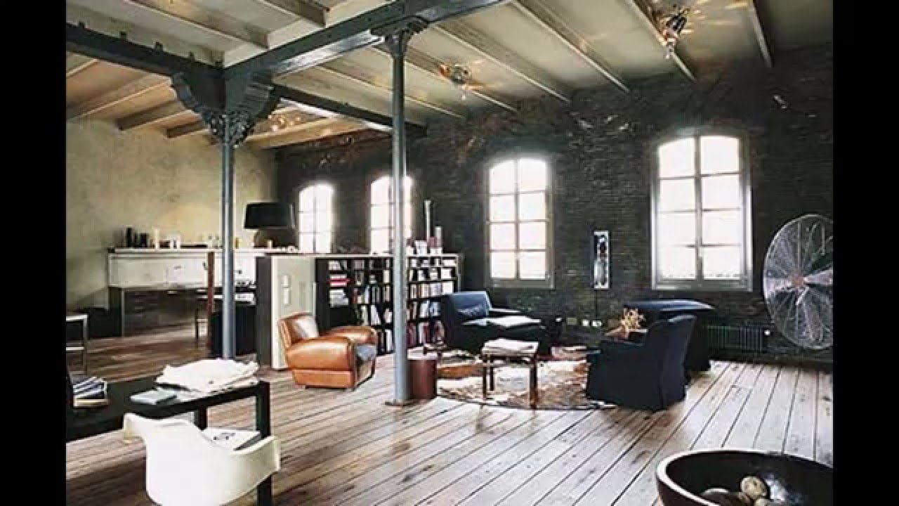 Industrial office design ideas youtube Industrial home office design ideas