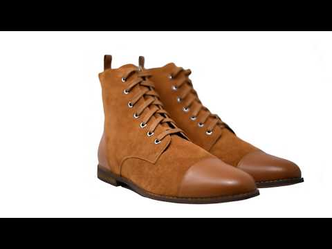 Asti Suede Men's Boots in Sudan Brown - 360 View