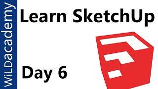 SketchUp Tutorial - 6 - Follow Me Tool