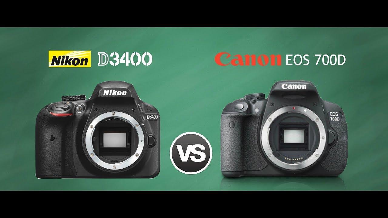 So sánh Canon 700D và Nikon D3400 – duytom.com