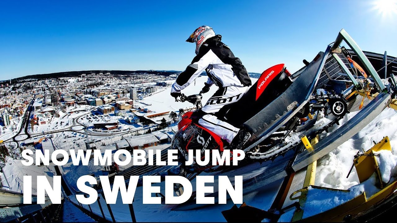 Ft Snowmobile Jump In Sweden Daniel Bodin YouTube - This is what happens when you fly a snowmobile off a cliff