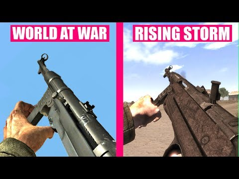 Call of Duty World At War Gun Sounds vs Red Orchestra 2 Rising Storm