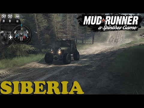 SpinTires: MudRunner   Siberia   Map Mod   CJ5 Flat Fender   Wheelcam   PC Gameplay
