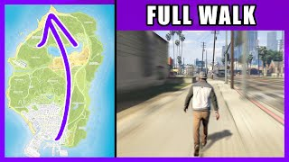 Full Walk Across the Map (ASMR) | GTA 5