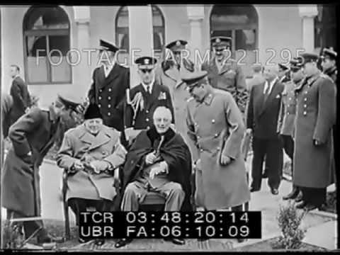 WWII - 1945, Yalta Big Three Confer Conference 221295-09.mp4 | Footage Farm