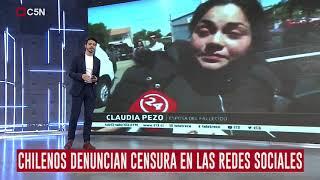 Chilenos denuncian censura en las redes