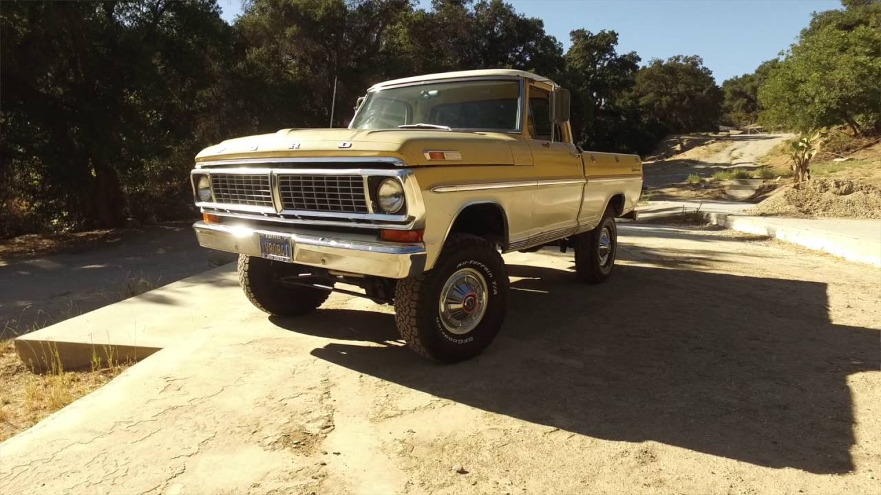 1970 Ford F100 Short Bed 4x4 Survivor For Sale Youtube Pickup Truck