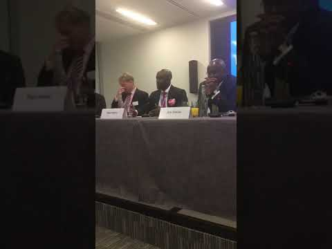Dayo Idowu Partner at OOLLP on the Oil and Gas panel at Africa Week  Who blames Who