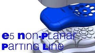 E5 SolidWorks Non-planar parting line mold