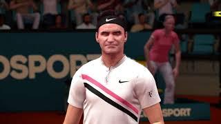 Tennis World Tour PS4 Agassi vs Federer