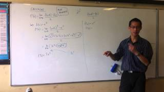First Principles Example: x³
