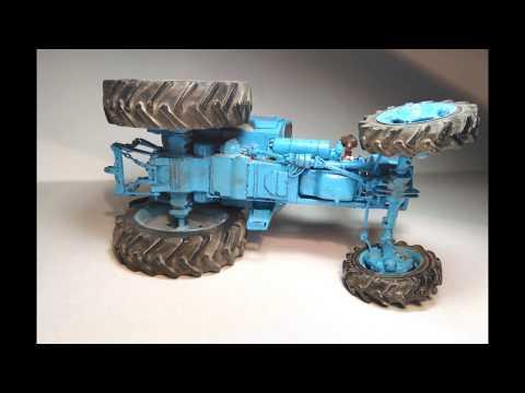 Сборка модели трактора МТЗ -82 из бумаги в масштабе 1:25