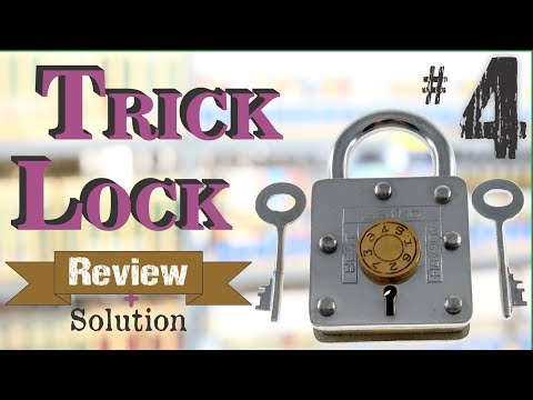 TRICK LOCK #4 - Review and Solution - Puzzle Lock from