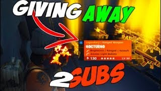Giving Away 130 God Role Fire Nocturnos To Fans - Fortnite Save The World