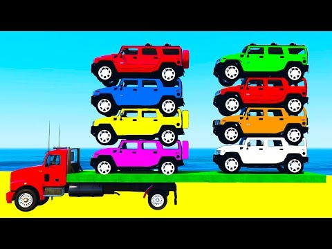 Thumbnail: LEARN COLORS w Offroad Cars for Kids and Learn Numbers in Spiderman Cartoon Learning Video
