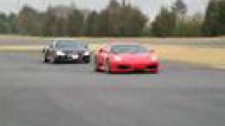 Jazda Ferrari F430 vs Audi R8 – Tor Białystok video
