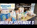 GROCERY HAUL & MEAL PLAN | WALMART | FAMILY OF 4 | 9/3/18