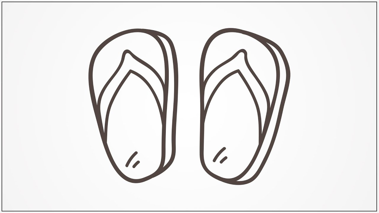 how to draw slippers step by step for kids