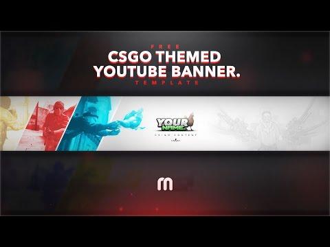 FREE CSGO YouTube Banner Template!