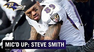 Steve Smith Doesn't Disappoint In Final Career Mic'ing  | Wired | Baltimore Ravens