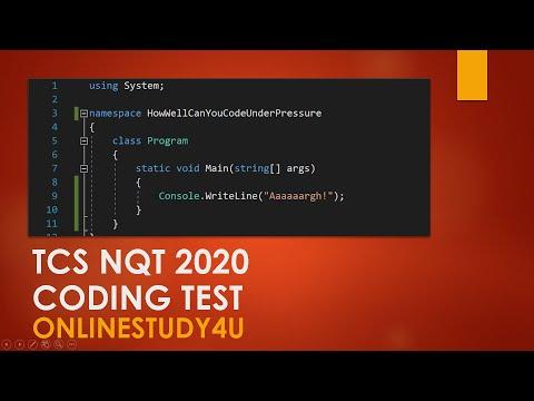 TCS NQT 2020 C Programming MOCK TEST Part1!