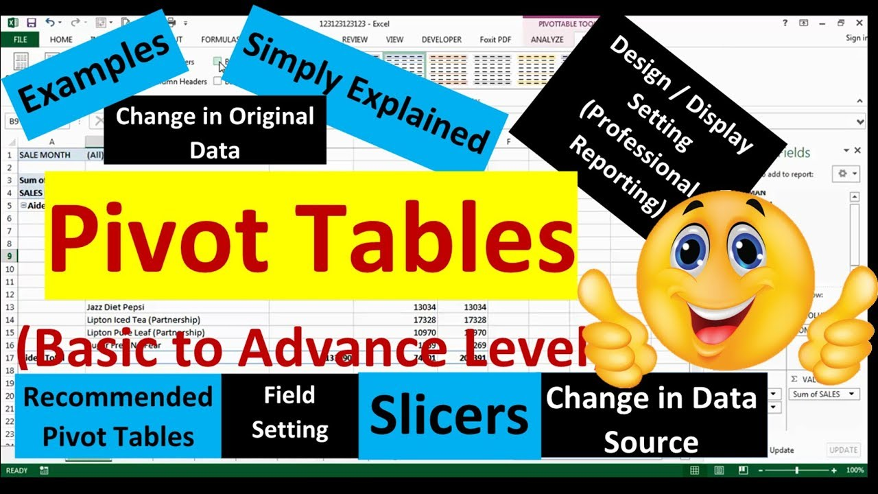 how to draw pivot table in excel