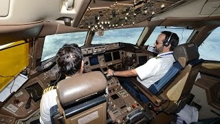PIA Pakistan International Airlines London to Karachi from B777 flight deck thumbnail