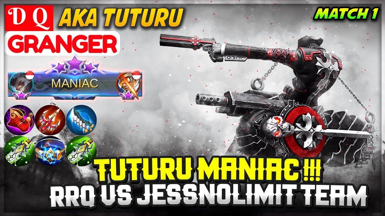Download Tuturu MANIAC !!! RRQ VS JessNolimit Team, Match 1 [ Tuturu Granger ] D Q - Mobile Legends