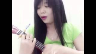 Môi xinh ukulele cover. Phiên bãn capo tự chế😀😀😀😀😀