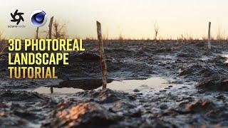 Create a Photorealistic Landscape in Ten Minutes | C4D, Octane