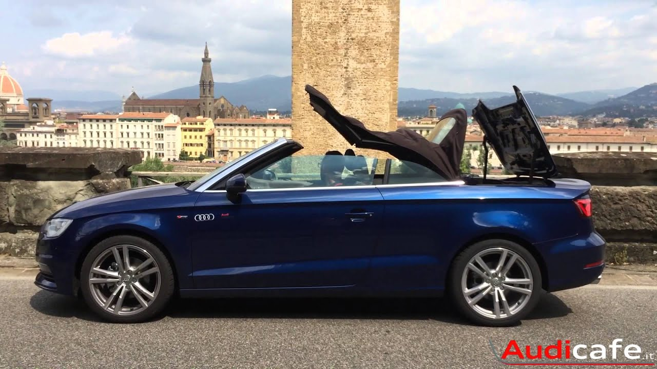 nuova audi a3 cabriolet il nostro test drive youtube. Black Bedroom Furniture Sets. Home Design Ideas
