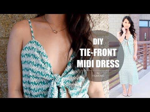 DIY Tie-Front Midi Dress & Announcements (Giveaway?)