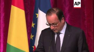 French President Hollande promises medical aid to Guinea to fight Ebola