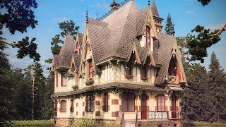 Загородный особняк в готическом стиле(Подробное описание архитектуры, фото и фасады проекта на сайте архитектурной компании http://www.topdom.info/rl10.php., 2013-07-05T13:49:40.000Z)