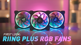First Look: Thermaltake Riing Plus 16.8m RGB Fans