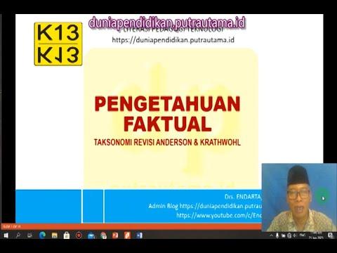 Pengetahuan Faktual Taksonomi Revisi Anderson Krathwohl - Pengertian, Komponen dan Contoh