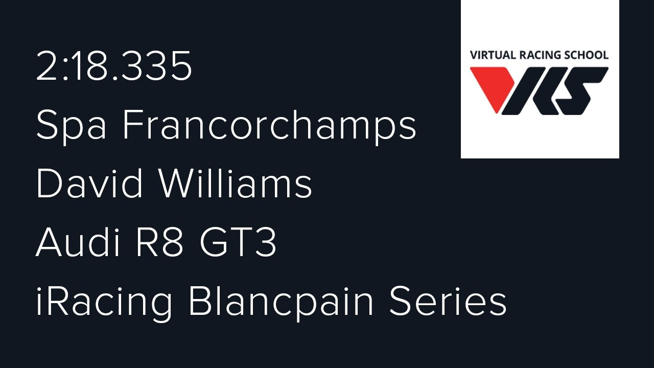 2017S1 - Week 4 (Spa Francorchamps) - Audi R8 GT3 - Blancpain Series