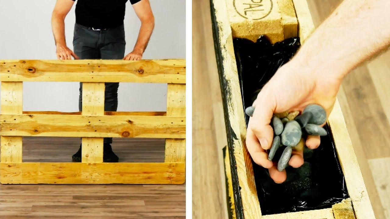 Самодельная МЕБЕЛЬ из дерева ДЛЯ ДОМА и ДАЧИ | Мебель из поддонов | Мини-огород | Европаллеты