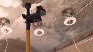 Монтаж Натяжного Потолка в ванной комнате(, 2015-12-17T18:08:23.000Z)