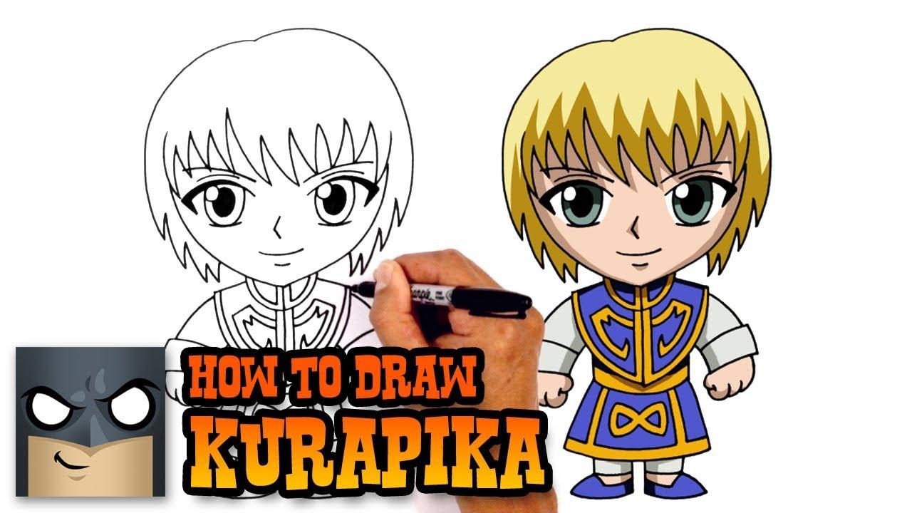 how to draw kurapika hunter x hunter youtube