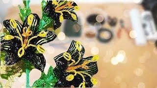 Цветы из бисера мастер класс(Видеоурок для начинающих http://biser-beads.ru/a/videouroki/, заменяющий пошаговые фото, как плести своими руками цветы..., 2013-12-21T17:54:47.000Z)