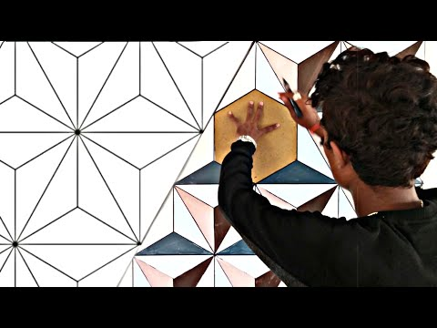 Optical Illusion 3d Wall Painting | 3D Wall Decoration Effect | Interior Design