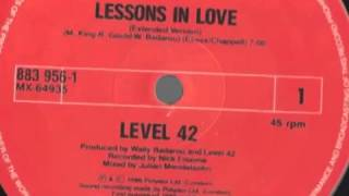 Level 42 - Lessons In Love ( Extended )