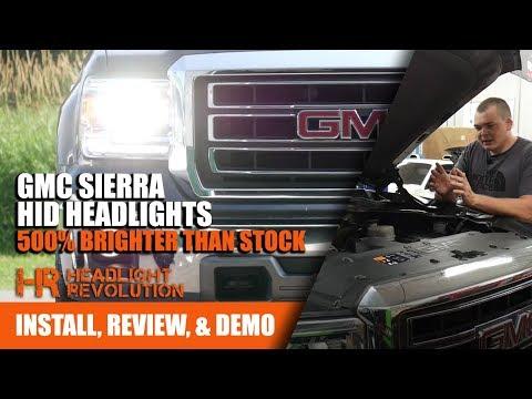 installing-gmc-sierra-hid-headlights,-500%-brighter!-|-headlight-revolution