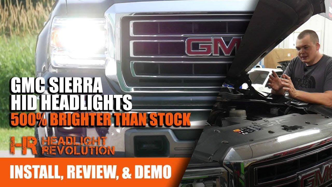 installing gmc sierra hid headlights 500 brighter headlight revolution [ 1280 x 720 Pixel ]