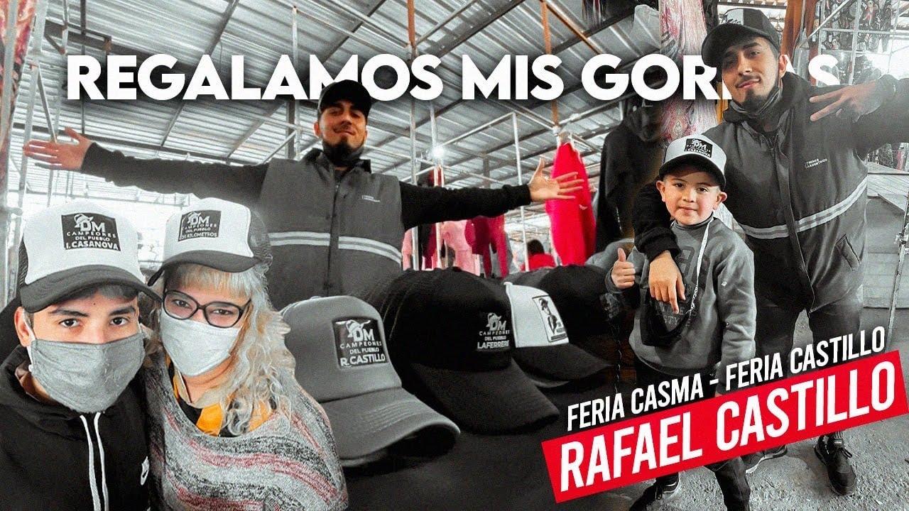 Regalé GORRAS a mis SEGUIDORES en una FERIA de BARRIO   Casma, Rafael Castillo